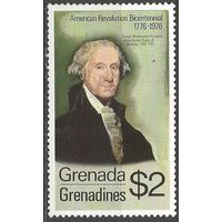 Гренада Гренадины. 200 лет Американской революции. Д.Вашингтон. Президент США. 1975г. Mi#104