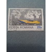 Румыния. Почтовый катер. 1974г. гашеная