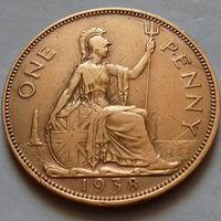 1 пенни, Великобритания 1938 г., Георг VI