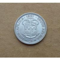 Южная Африка, 2 шиллинга 1957 г., серебро