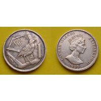 Каймановы острова 1 цент 1990г.