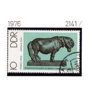 Германия(ГДР)-1976,(Мих.2141) гаш. , Лошади, Скульптура