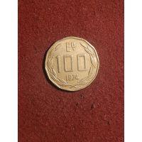 Чили 100 эскудо 1974 года