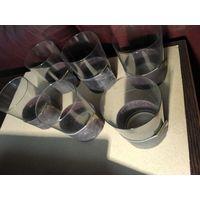 Тонкостенные чайные стаканы в кожаной отделке Польша.