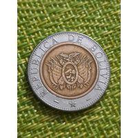 Боливия 5 боливиано 2001 г