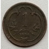 Австрия 1 геллер 1894