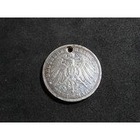 Германская империя 3 марки, 1911 (просверлено отверстие)