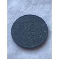20 грошей 1923 цинк