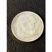 5 рейхсмарок Германия (Третий Рейх) 1935 год A.Серебро 900.116