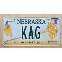 Номер автомобильный США  Nebraska