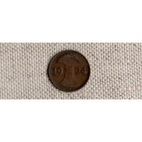 Германия 1 пфенниг 1924 D рентенпфенниг(Ab)