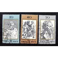 ГДР 1971 г. 500-летие Альбрехта Дюрера. Живопись. Искусство, полная серия из 3 марок #0003-И1P1