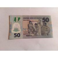 Нигерия 50 найра 2010 год пластик (юбилейка) состояние UNC