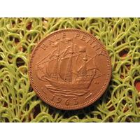 1/2 пенни 1963 Британия KM# 896 бронза 713