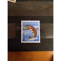 1960 Новая Зеландия фауна рыба чистая без клея без дыр (4-2)