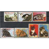 Кошки Экваториальная Гвинея 1978 год серия из 7 марок (М)