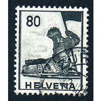 53: Швейцария, почтовая марка, 1941 год, номинал 80с, SG#408