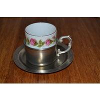 Кофейная чашка с подстаканником, WMF, Kronester