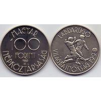 Венгрия, 100 форинтов 1988 года. Чемпионат мира по футболу 1990 года.