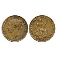 Великобритания. 1 пенни 1854 г.