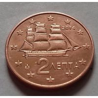 2 евроцента, Греция 2014 г., AU