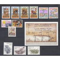 Фареры (Дания). 1986. 12 марок и 1 блок (полный годовой комплект). Michel N 130-144 (34,5 е)