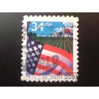 США 2001 стандарт, флаг и поле