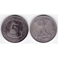 ФРГ 5 марок 1991 J