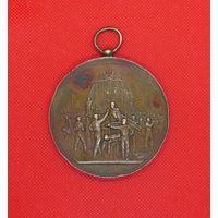 Медаль французская спортивная большая 1889г.