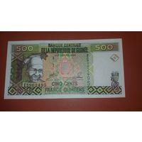 Банкнота 500 франков Гвинея 1998