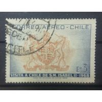 Чили герб Великобритании визит Елизаветы || 1968