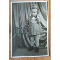 Художественное фото девочки. 1967 г. 11х17 см.