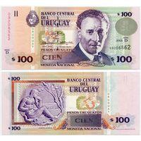 Уругвай. 100 песо (образца 2003 года, P85, UNC)