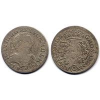 6 грошей (шостак) 1681 TLB, Ян III Собесский, Краков. Ав: портрет в доспехах - более редкий вариант, R2