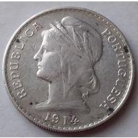 Португалия 50 центаво 1914 года.