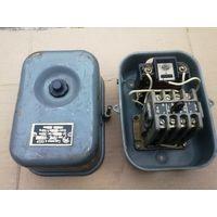 Магнитный пускатель (контактор) ПМЕ-022 с тепловым реле в металлическом корпусе.