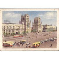 1954 год Минск Вокзальная площадь