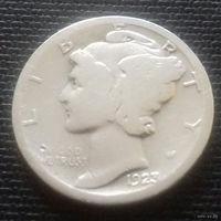 10 центов (дайм), США 1923 г., серебро