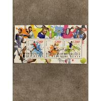 Бенин 2015. Легенды большого тенниса. Малый лист