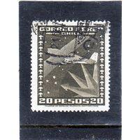 Чили. Mi:CL 216. Самолет и небо. Серия: Воздушная почта. 1934.