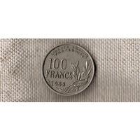 Франция 100 франков 1958(редкая)//(Oct)