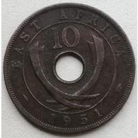 Британская Восточная Африка 10 цент 1951