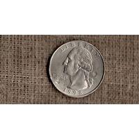 США 25 центов 1998 D