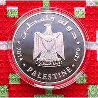 Палестина 1 динар 2014 года. Голубь Мира.