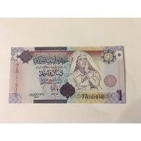 Ливия 1 динар 2004 год пресс Кадаффи