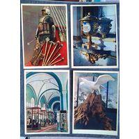 """Открытки из серии """"Сокровища Кремля"""" 1957 г. 7 шт. Цена за все"""