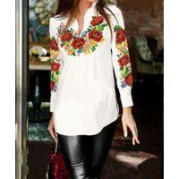 Вышитая женская рубашка бисер