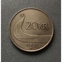 Норвегия 20 крон 1998 год