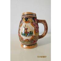 Бокал кружка пиво керамика Голландия 105 мм 0.2 л а1