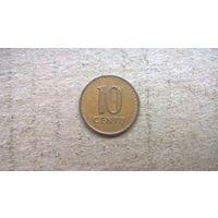 Литва 10 центов, 1991г. (D-32)